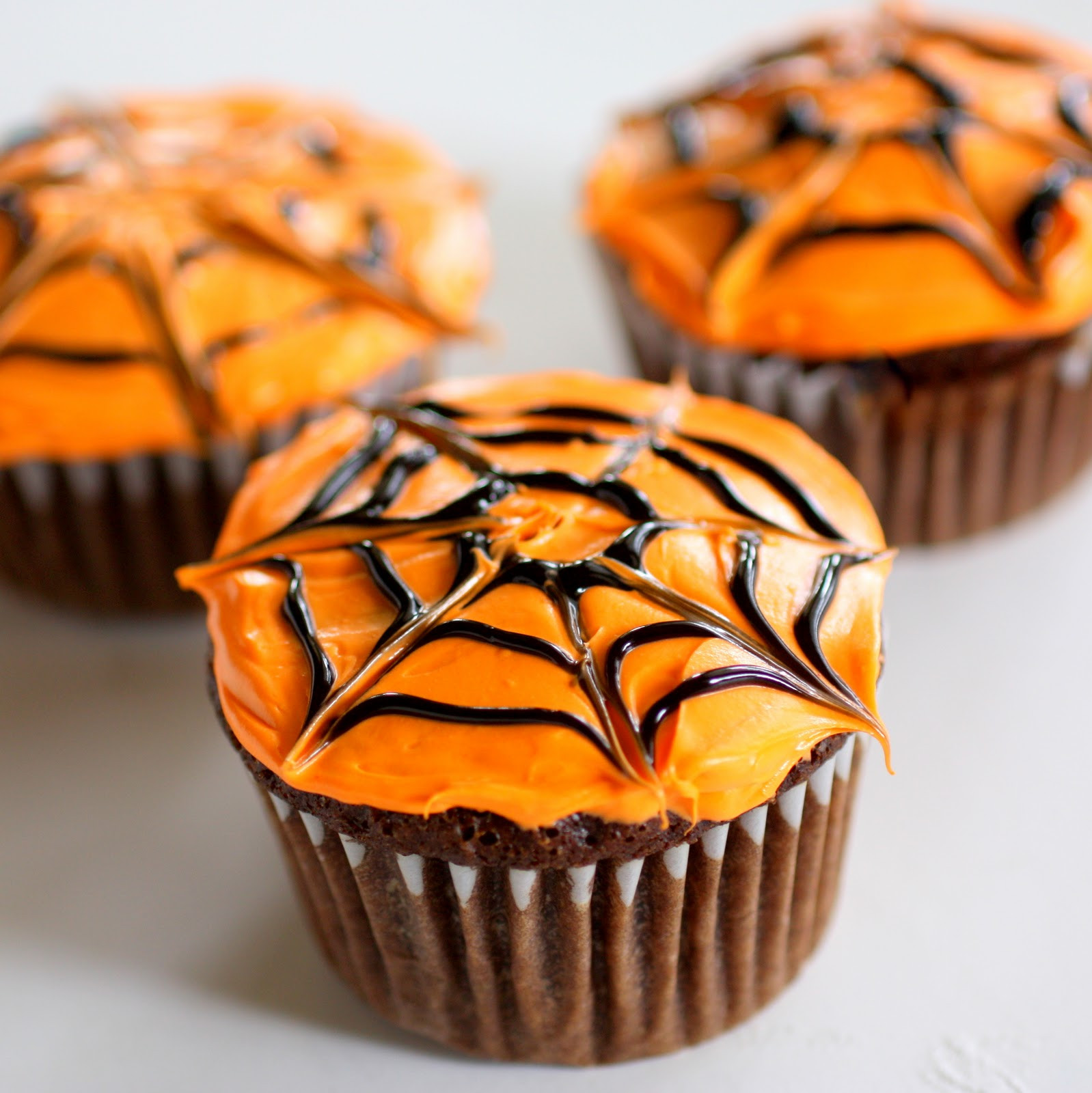 Homemade Halloween Cupcakes  Spiderweb Cupcakes The Girl Who Ate Everything