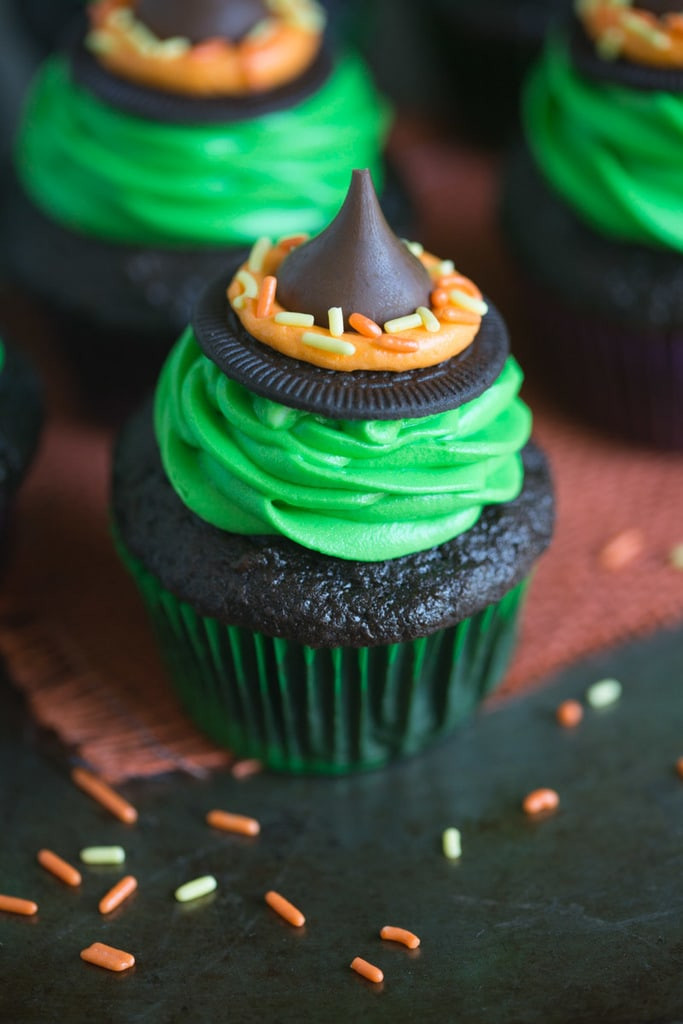 Homemade Halloween Cupcakes  Witch Hat Cupcakes Tastes Better From Scratch