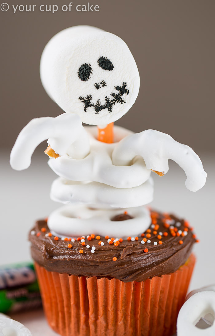 Homemade Halloween Cupcakes  Easy Skeleton Cupcakes Your Cup of Cake