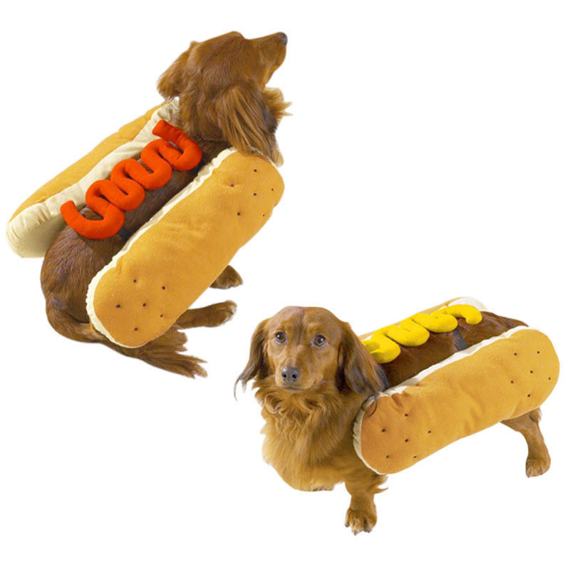 Hot Dog Halloween Costumes For Dogs  Hot Diggity Dog Hot Dog Halloween Costume Choose Hotdog