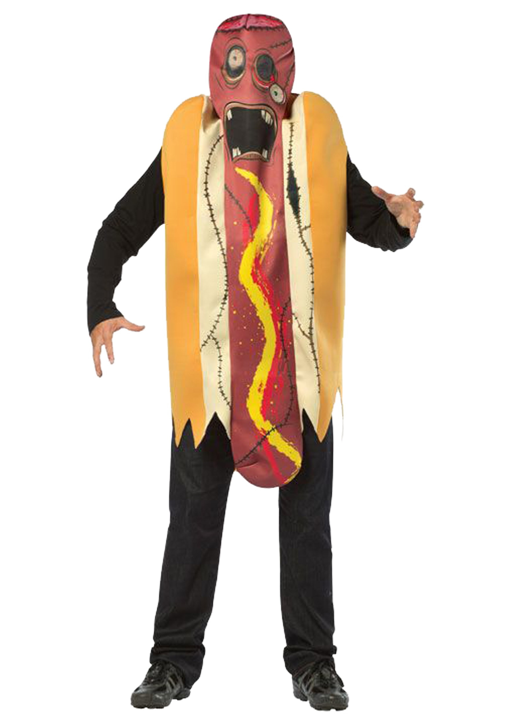 Hot Dog Halloween Costumes For Dogs  Adult Zombie Hot Dog Costume