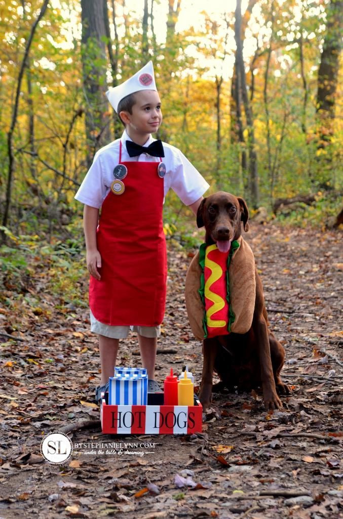 Hot Dog Halloween Costumes For Dogs  Hot Dog Vendor Costume