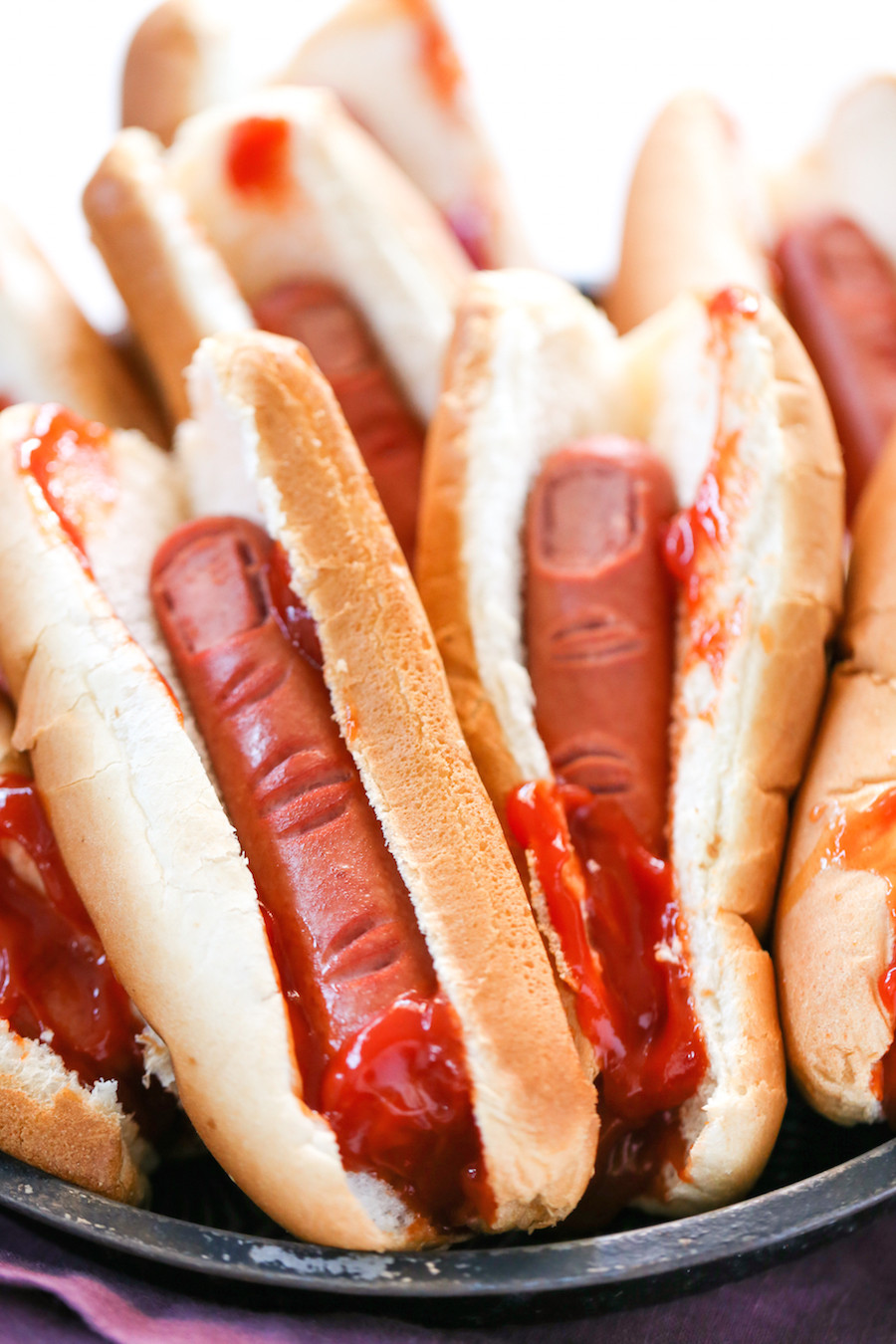 Hot Dogs Halloween  Bloody Finger Hot Dogs for Halloween