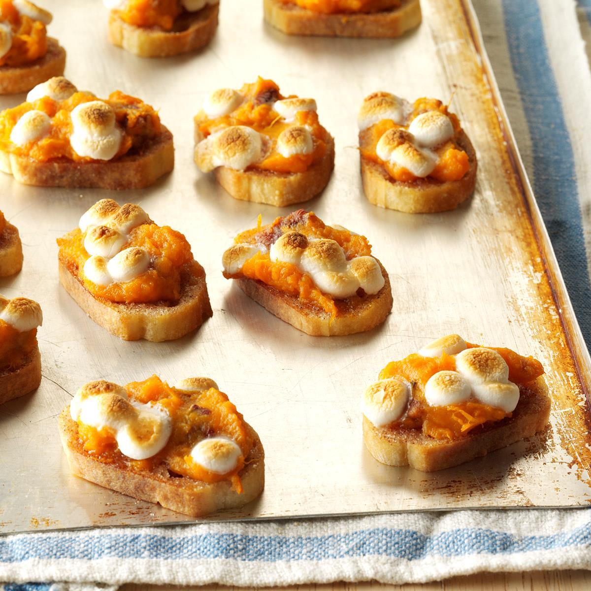 Hot Thanksgiving Appetizers  Sweet Potato Crostini Recipe
