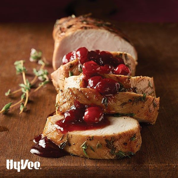 Hy Vee Thanksgiving Dinner  Turkey Tenderloins with Cranberry Maple Sauce