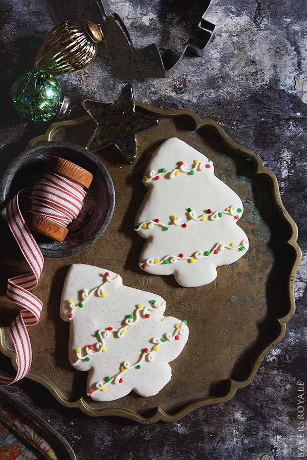 Iced Christmas Cookies  Decorated Christmas Tree Cookies