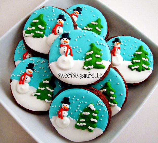 Iced Christmas Cookies  Christmas Royal Icing Transfers
