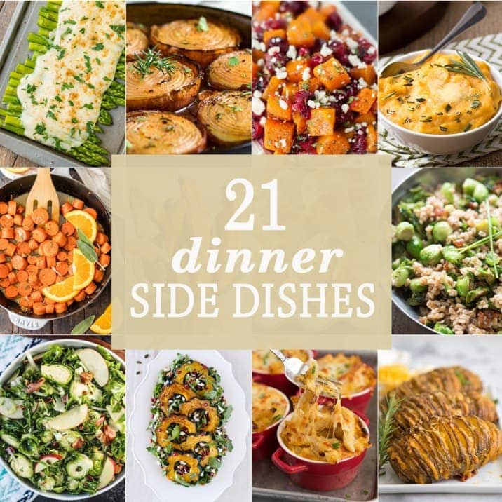 Ideas For Thanksgiving Dinner Side Dishes  21 Dinner Side Dishes The Cookie Rookie