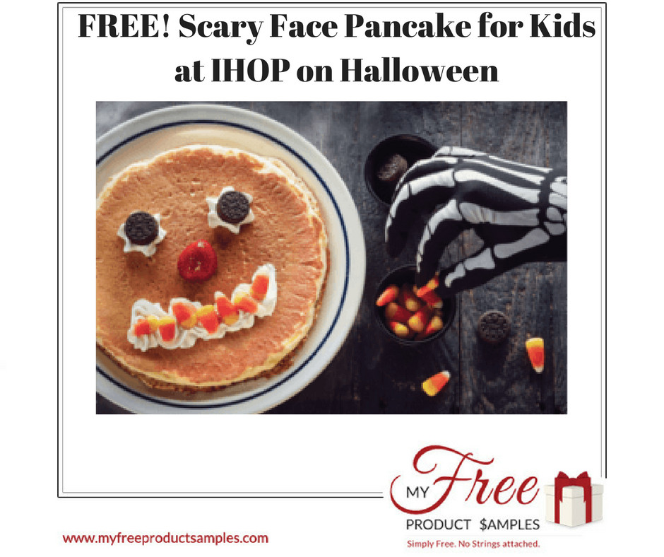 Ihop Free Pancakes Halloween  FREE Scary Face Pancake for Kids at IHOP on Halloween