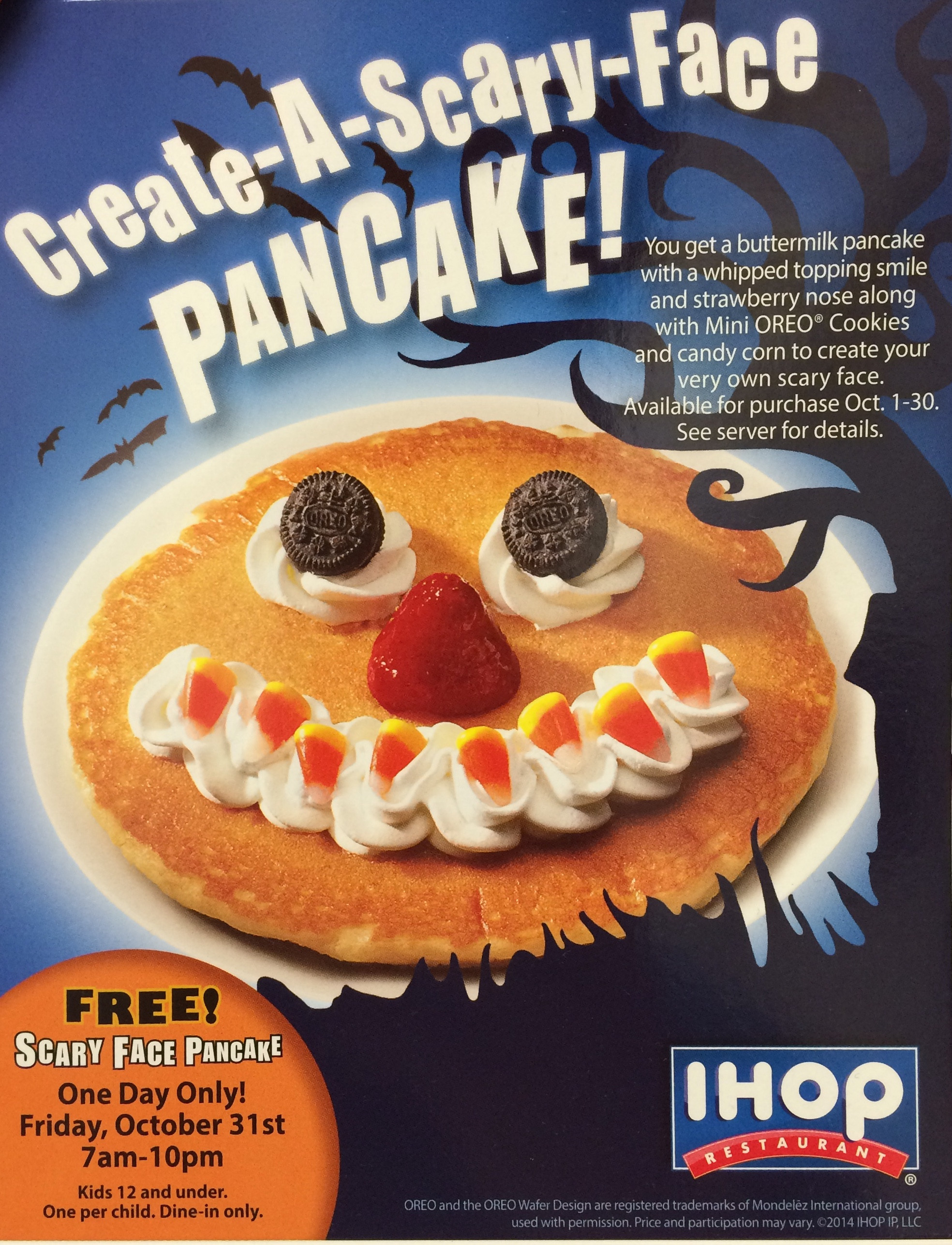 Ihop Free Pancakes Halloween  Halloween Restaurant Deals Check out these Free & Cheap