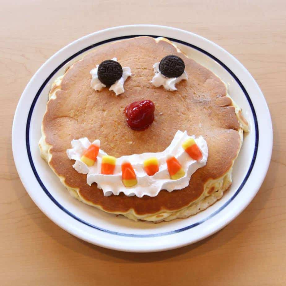 Ihop Free Pancakes Halloween  IHOP Free 'Scary Face' pancake for kids on Oct 31