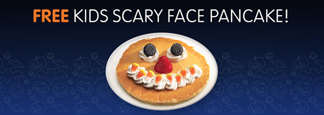 Ihop Free Pancakes Halloween  IHOP Kids Get a FREE Scary Face Pancake on Halloween 12