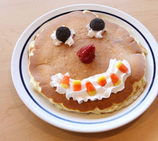 Ihop Free Pancakes Halloween  News Scary Face Pancakes are Back at IHOP and Free on
