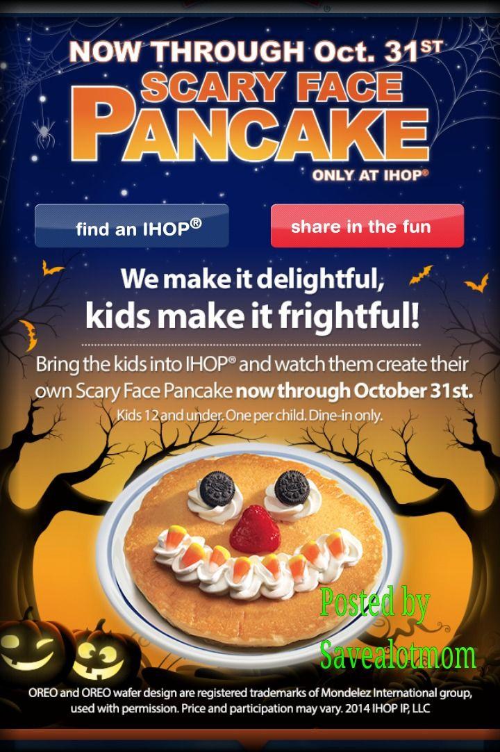 Ihop Free Pancakes Halloween  FREE Pancakes from IHop for Halloween