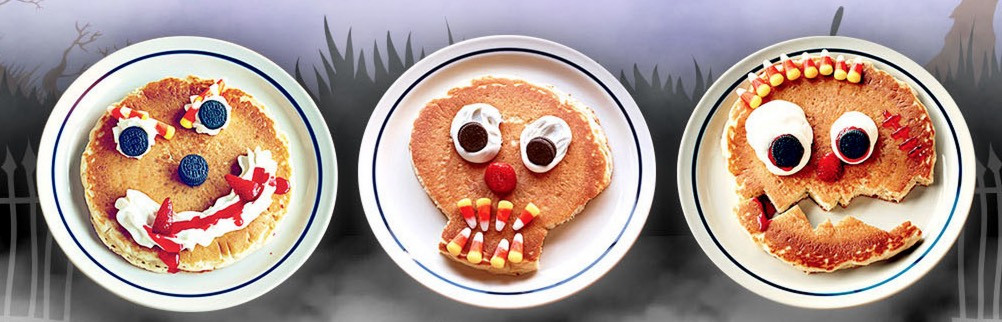 Ihop Halloween Free Pancakes 2019  FREE Kids Scary Face Pancake TODAY ONLY Wheel N Deal Mama