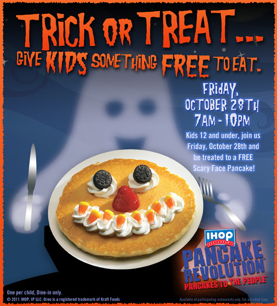 Ihop Halloween Free Pancakes 2019  Kids Eat Free at IHOP on Friday Mamas on a Dime