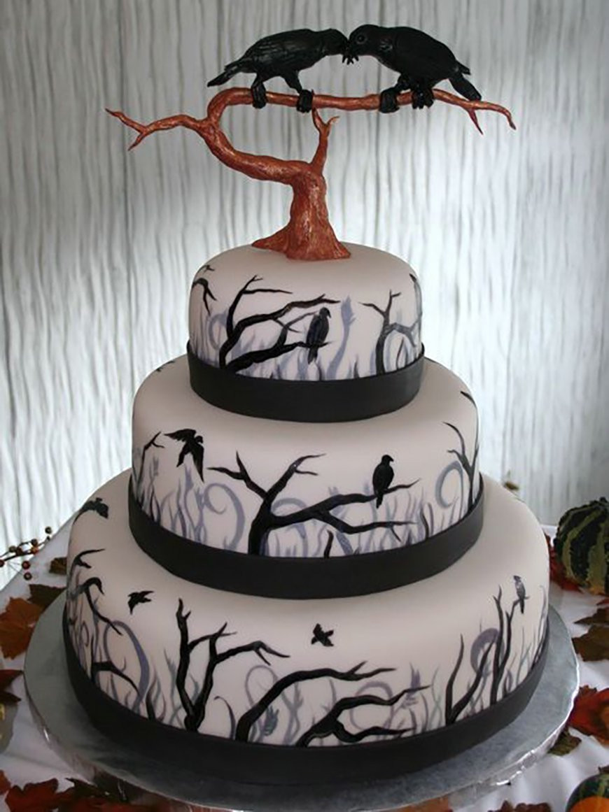 Images Of Halloween Cakes  23 Halloween Wedding Cakes