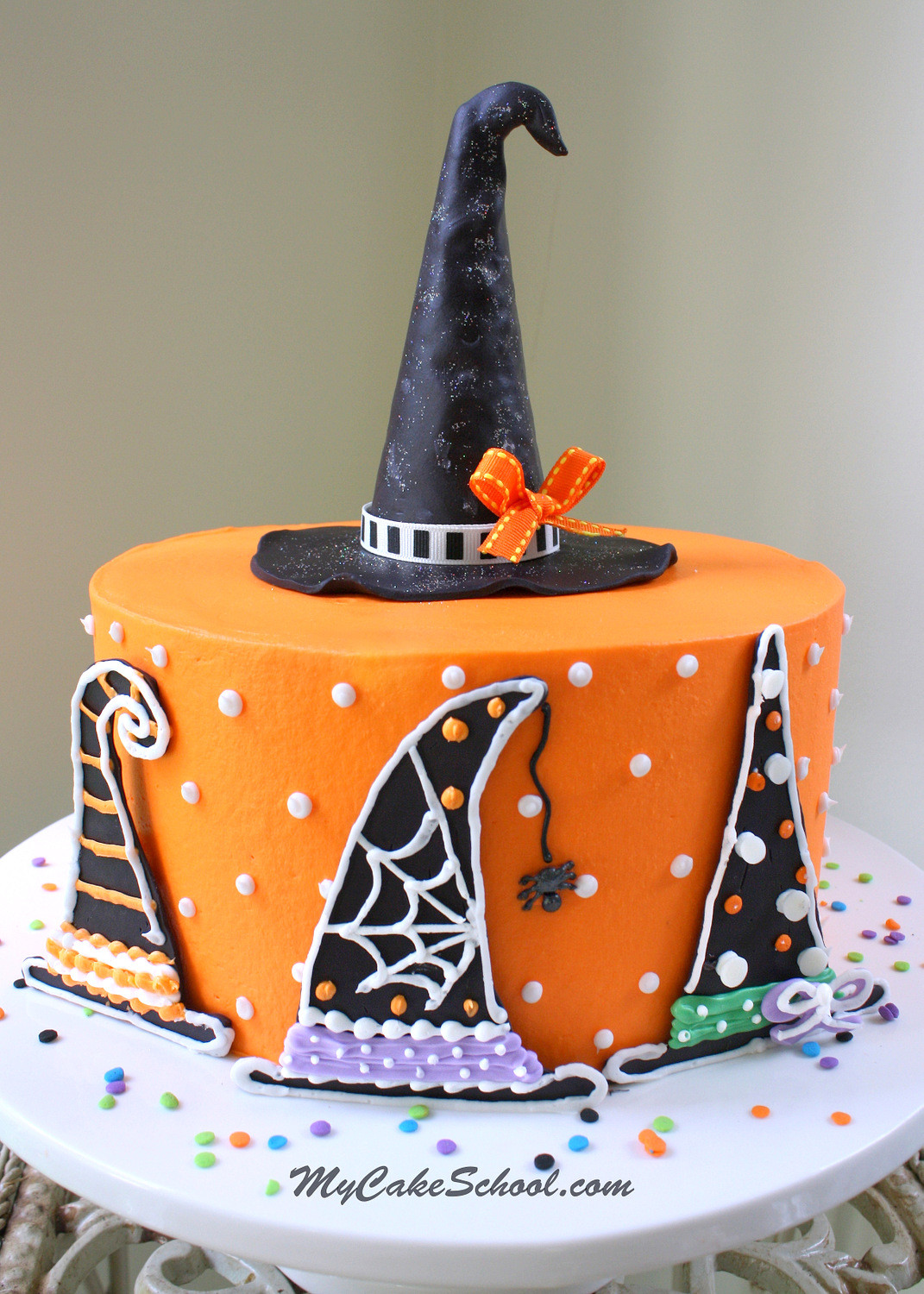 Images Of Halloween Cakes  Witch Hats A Halloween Cake Decorating Tutorial