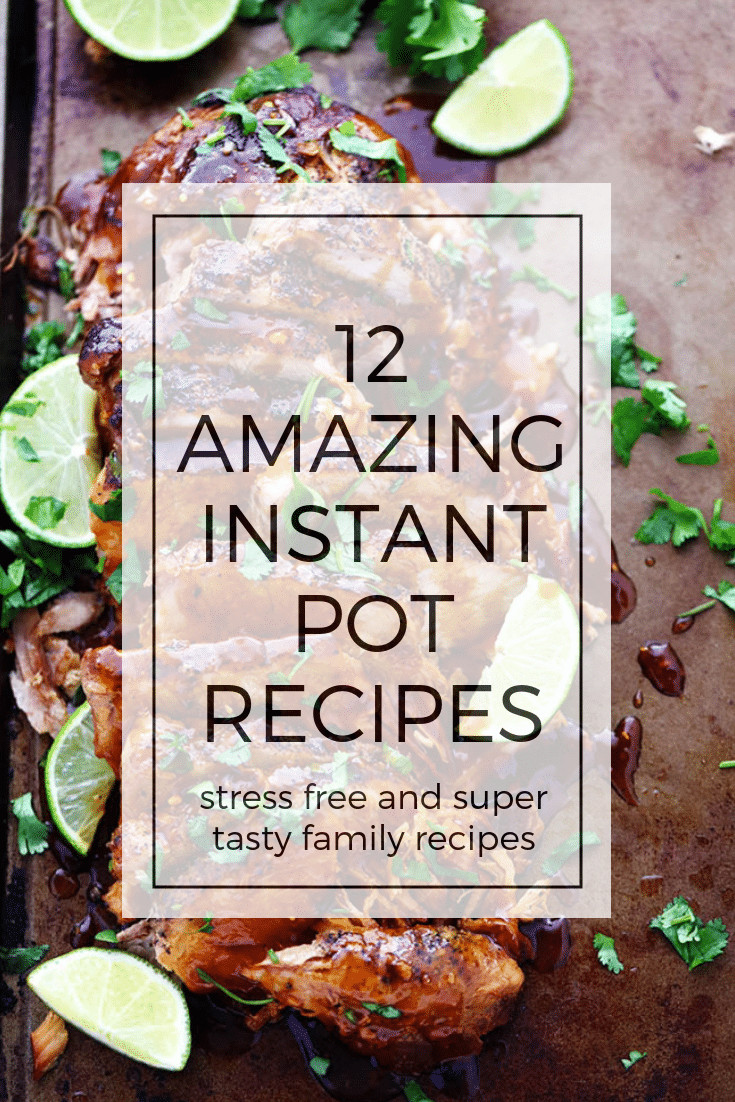 Instant Pot Fall Recipes  Twelve Best Instant Pot Recipes for the Fall Foodness