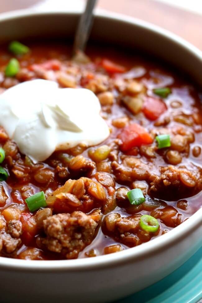 Instant Pot Thanksgiving Recipes  Instant Pot Ground Turkey Lentil Chili 365 Days of Slow