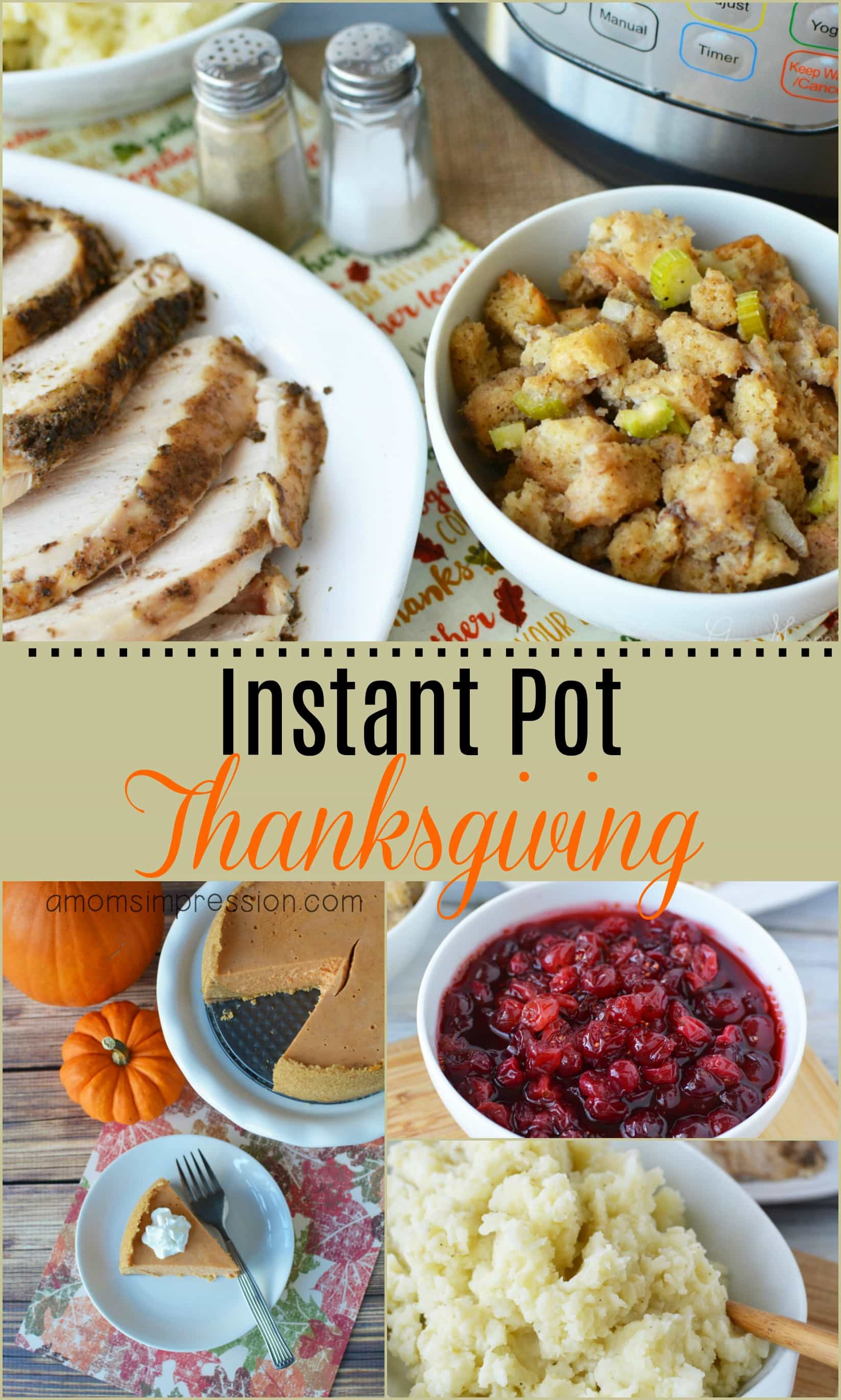 Instant Pot Thanksgiving Recipes  4 Quick and Easy Instant Pot Thanksgiving Recipes