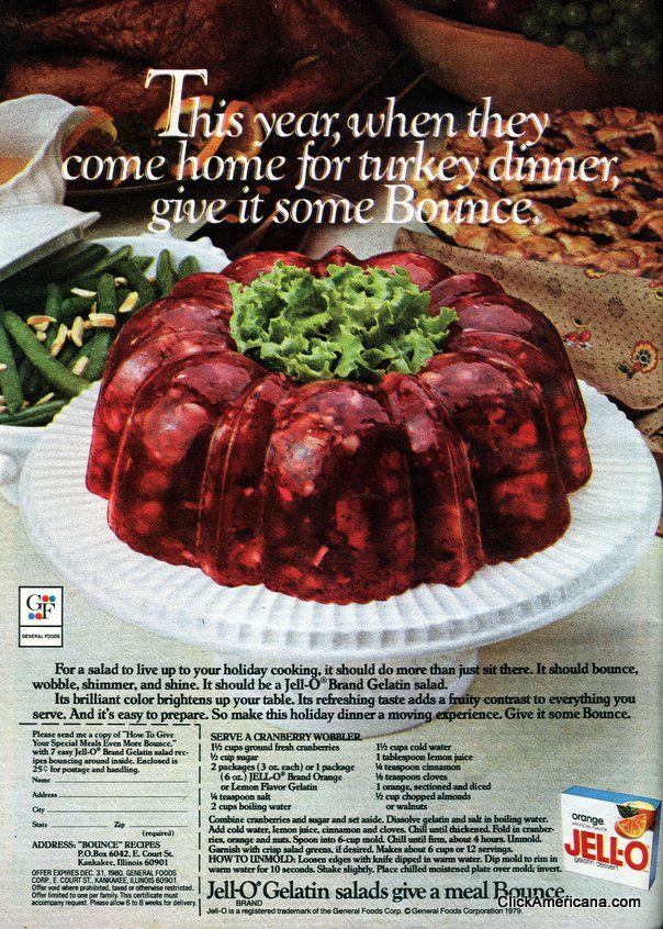 Jello Salads For Thanksgiving Dinner  Serve a Cranberry Wobbler for Thanksgiving 1979
