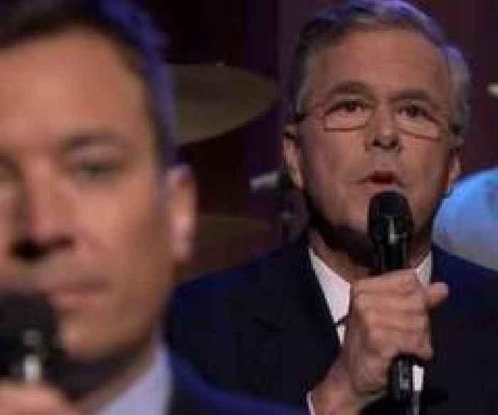 Jimmy Fallon Jeb Bush Guacamole  Jeb Bush and Jimmy Fallon Slow Jams The News on Tonight