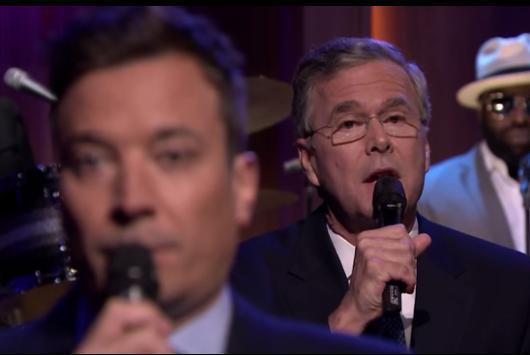 Jimmy Fallon Jeb Bush Guacamole  Jeb Bush slow jams the news with Jimmy Fallon UPI