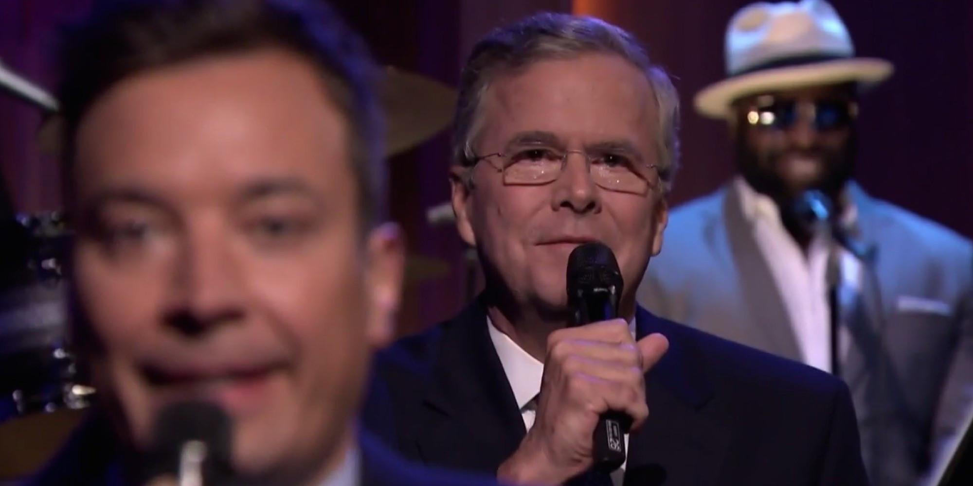 Jimmy Fallon Jeb Bush Guacamole  Jeb Bush Slow Jams The News With Jimmy Fallon The