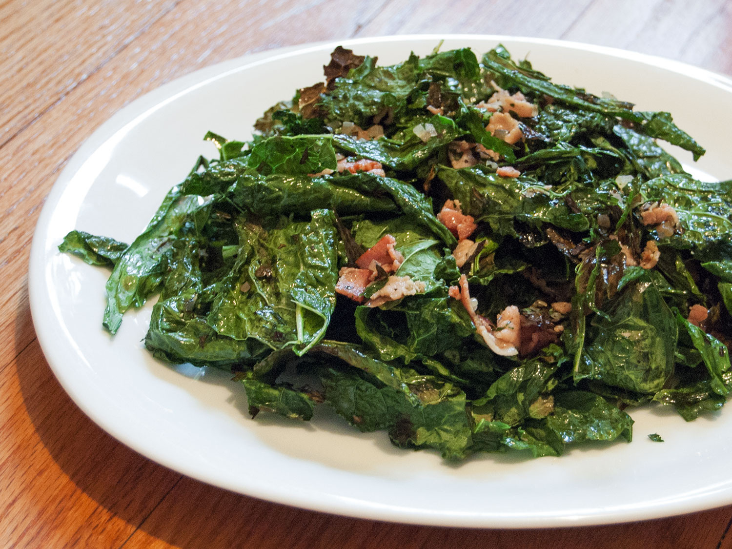 Kale Thanksgiving Recipes  Grilled Kale Salad With Warm Bacon Vinaigrette Recipe