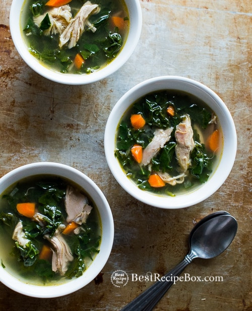 Kale Thanksgiving Recipes  Healthy Turkey Soup Recipe with Kale