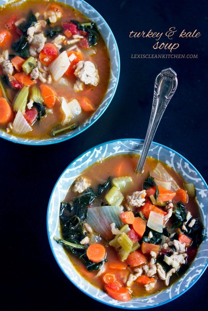 Kale Thanksgiving Recipes  Turkey Kale Soup Lexi s Clean Kitchen