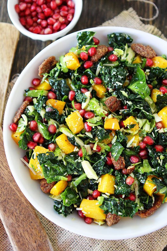 Kale Thanksgiving Recipes  Kale and Brussels Sprouts Salad Recipe