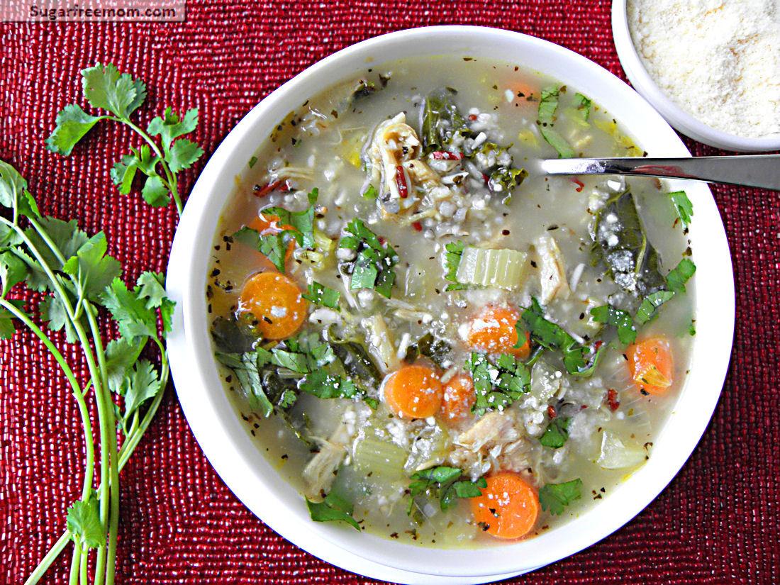 Kale Thanksgiving Recipes  Crock Pot Turkey Kale Rice Soup