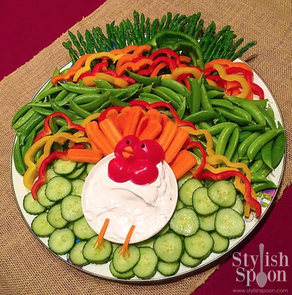 Kid Friendly Thanksgiving Appetizers  Recipe Kid Friendly Ve arian Turkey Veggie Platter