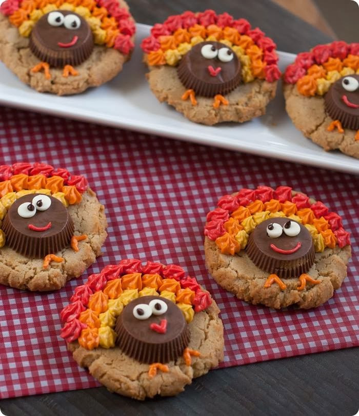 Kids Thanksgiving Desserts  Easy Reese s Peanut Butter Cup Turkey Cookies Kitchen