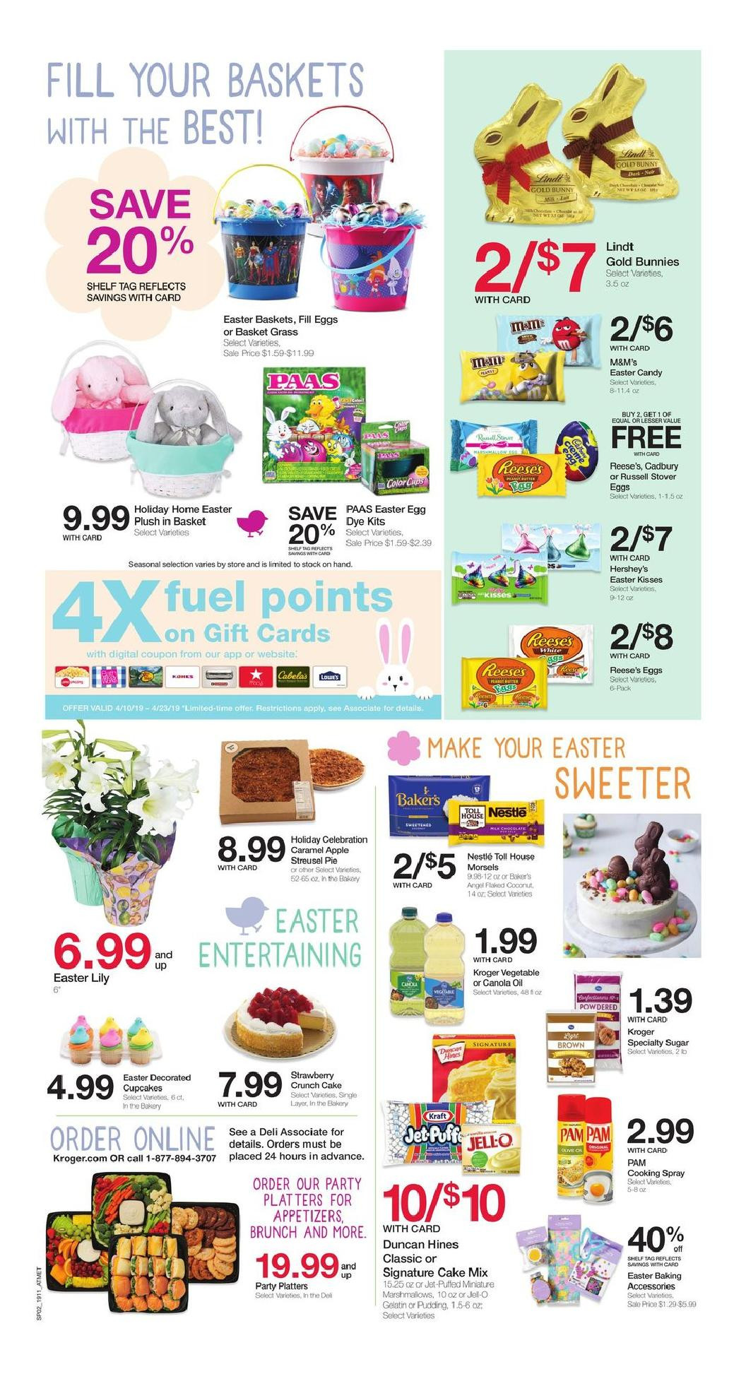 Krogers Thanksgiving Dinner 2019  Kroger Weekly Ad 04 17 2019 04 23 2019