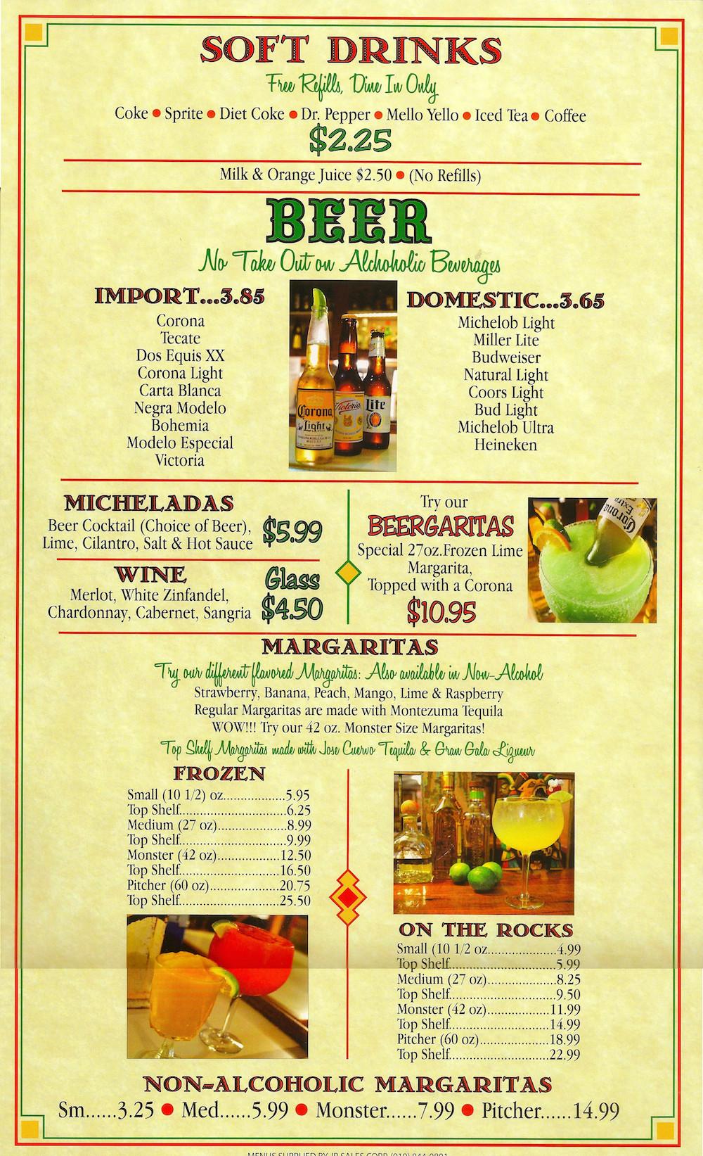 Las Margaritas O'Fallon Menu  Menu