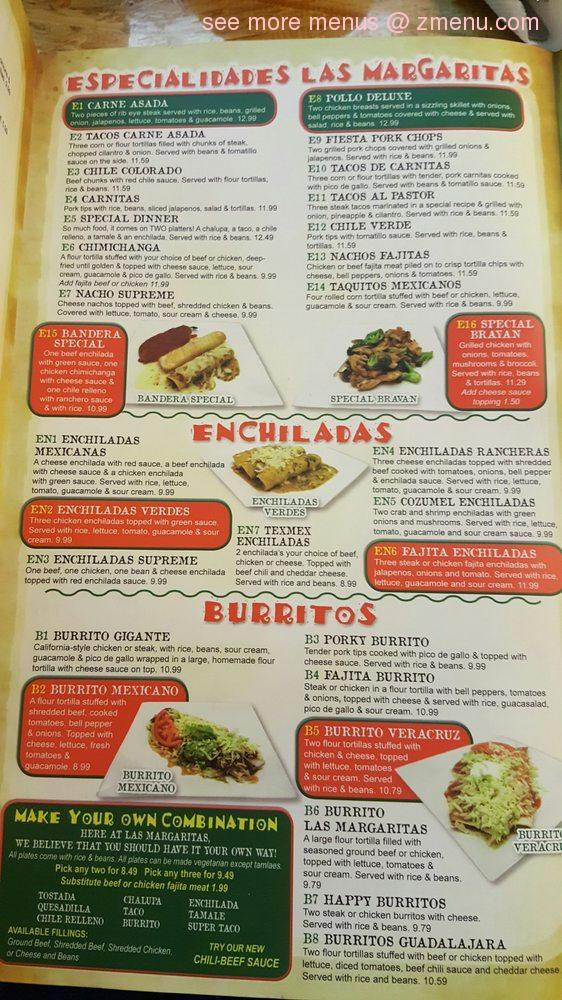 Las Margaritas O'Fallon Menu  line Menu of Hacienda Las Margaritas Bar & Grill