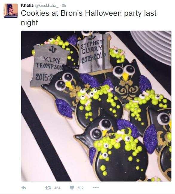 Lebron Halloween Cookies  Warriors react to '3 1 Lead' joke at LeBron James