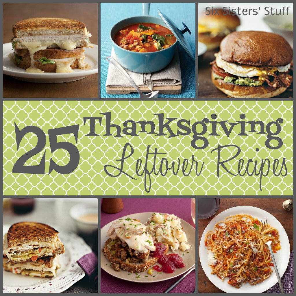 Left Over Thanksgiving Turkey Recipes  25 Thanksgiving Leftover Recipes