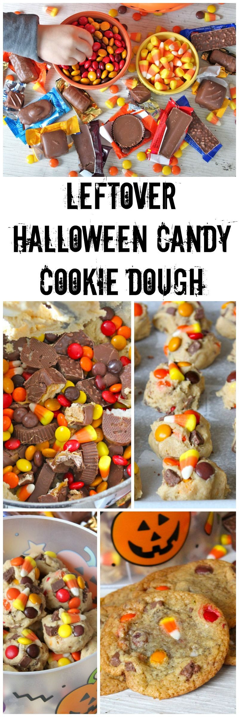 Leftover Halloween Candy Cookies  Leftover Halloween Candy Cookie Dough mix your leftover