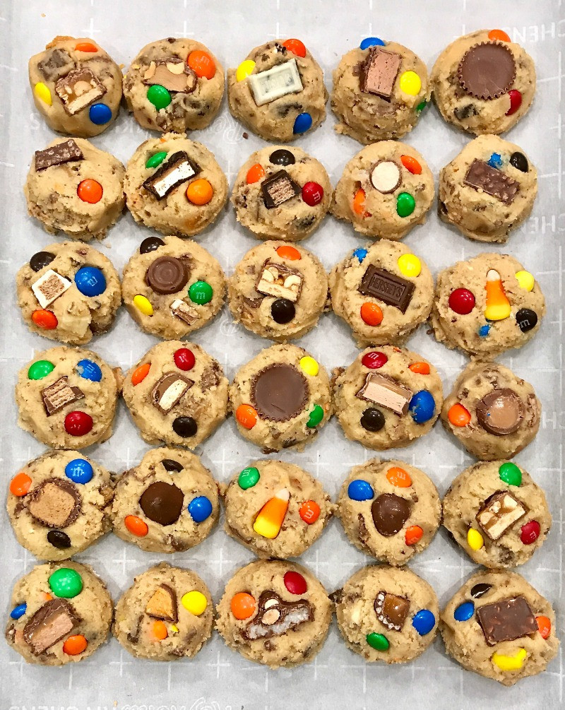 Leftover Halloween Candy Cookies  Leftover Halloween Candy Cookie Dough