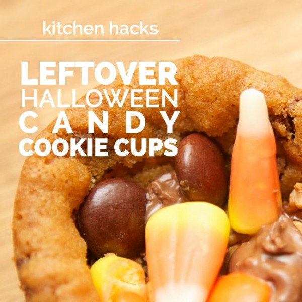 Leftover Halloween Candy Cookies  Leftover Halloween Candy Cookie Cups