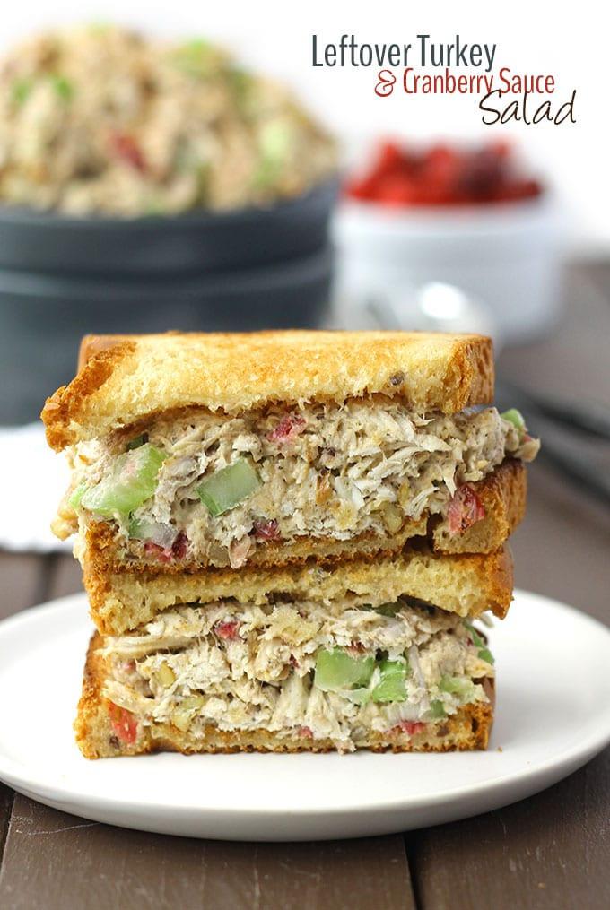 Leftover Thanksgiving Turkey  Leftover Turkey and Cranberry Sauce Salad