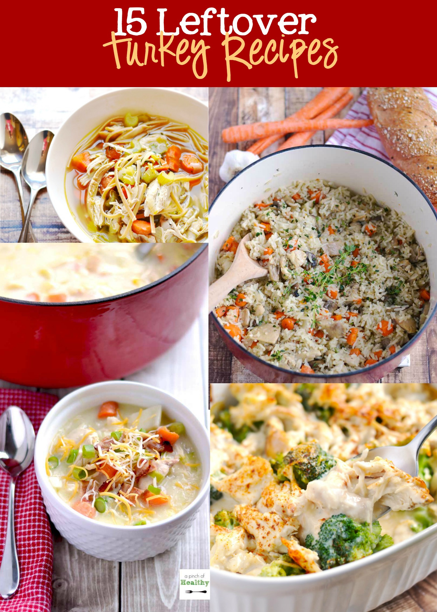 Leftover Thanksgiving Turkey  Leftover Turkey Recipes Roundup A Pinch of Healthy