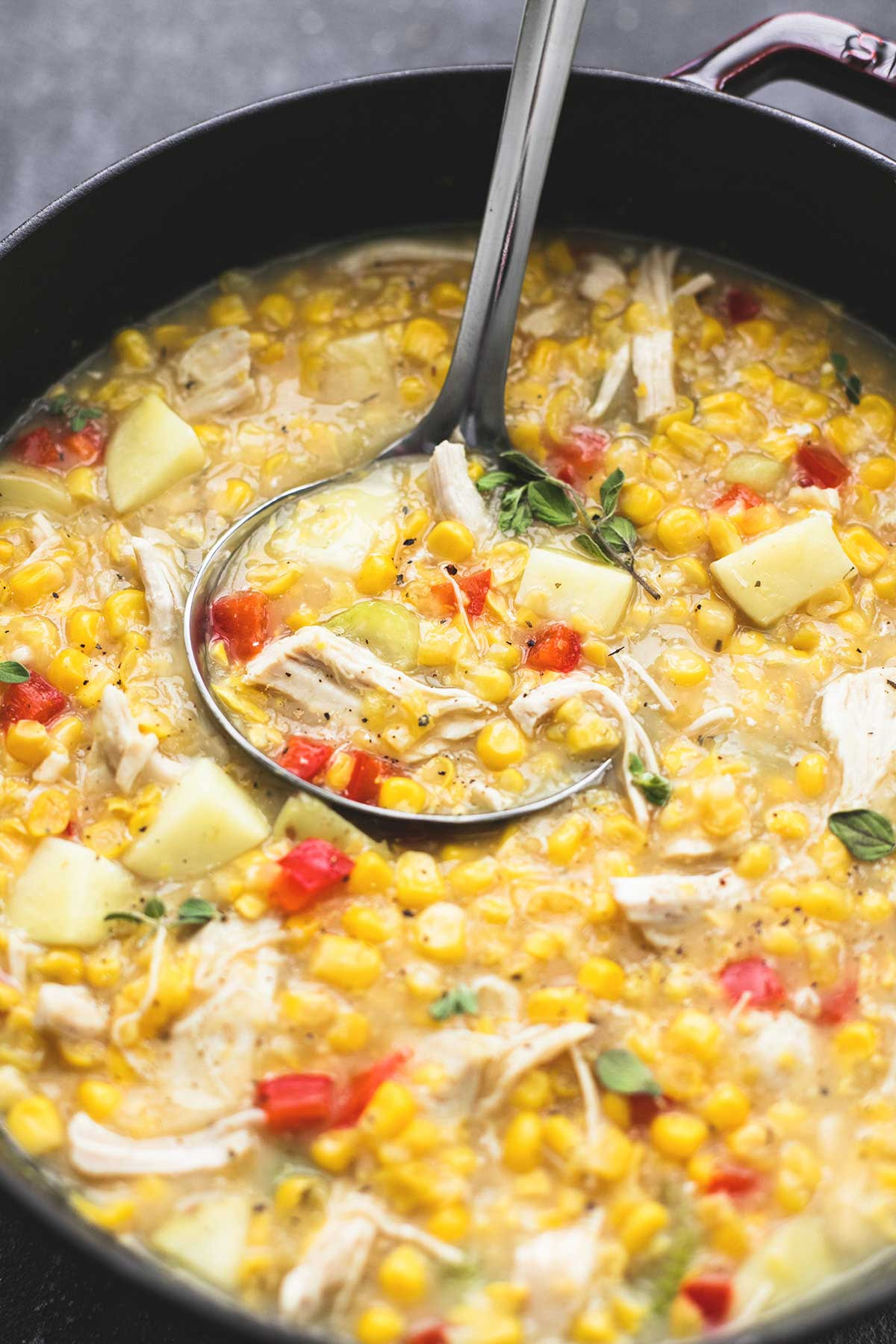 Leftover Thanksgiving Turkey  Leftover Turkey Corn Chowder Creme De La Crumb