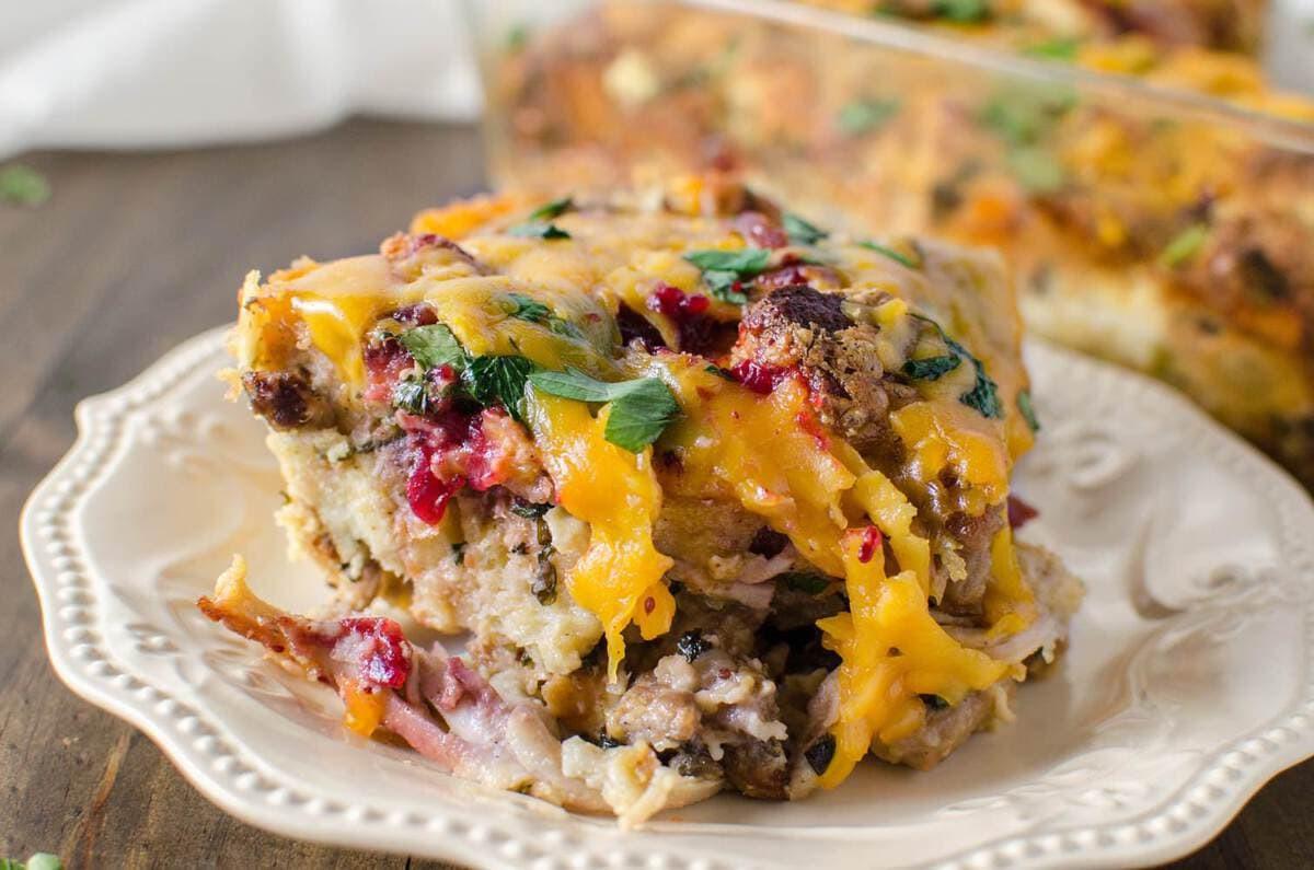 Leftover Thanksgiving Turkey  Thanksgiving Leftover Savory Bread Pudding