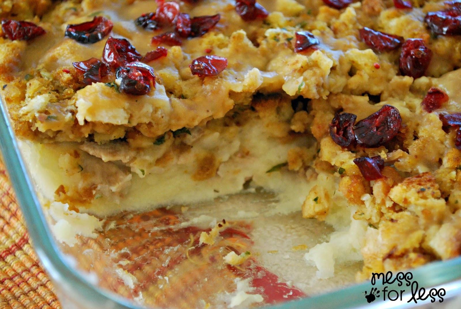 Leftovers Thanksgiving Casserole  Thanksgiving Dinner Casserole