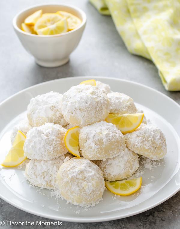 Lemon Christmas Cookies  Meyer Lemon Greek Butter Cookies Kourabiedes Flavor